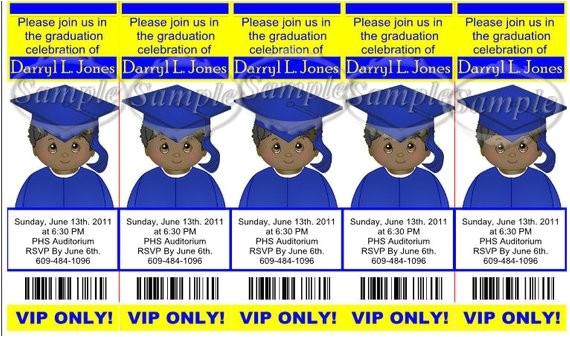 kids graduation bookmark ticket