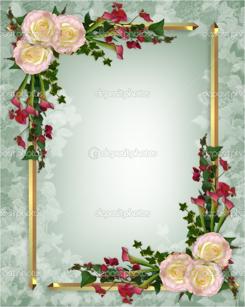post elegant wedding invitation borders 67103