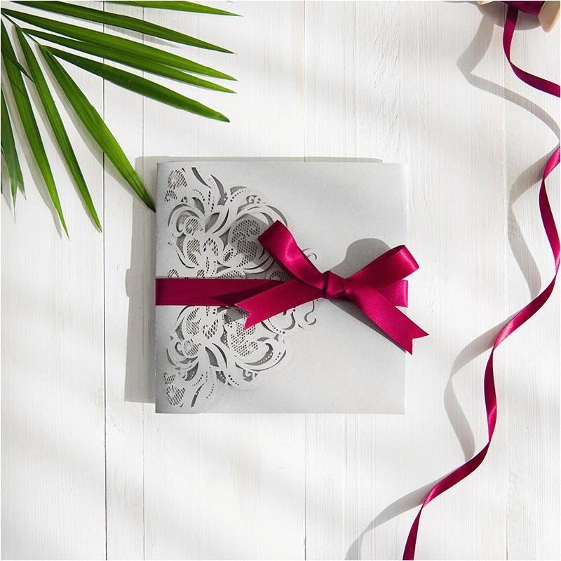 burgundy wedding ideas pocket wedding invitations laser cut wedding invitations