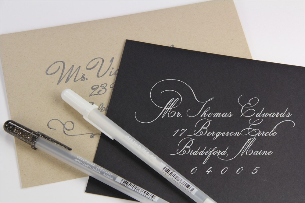 diy calligraphy addressed envelopes economical elegant