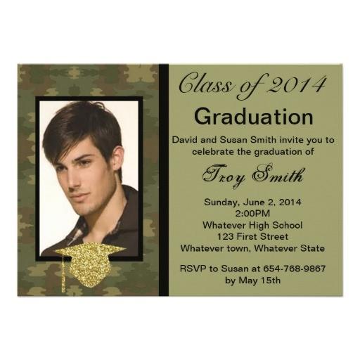photo camouflage graduation invitation 161842269014982964