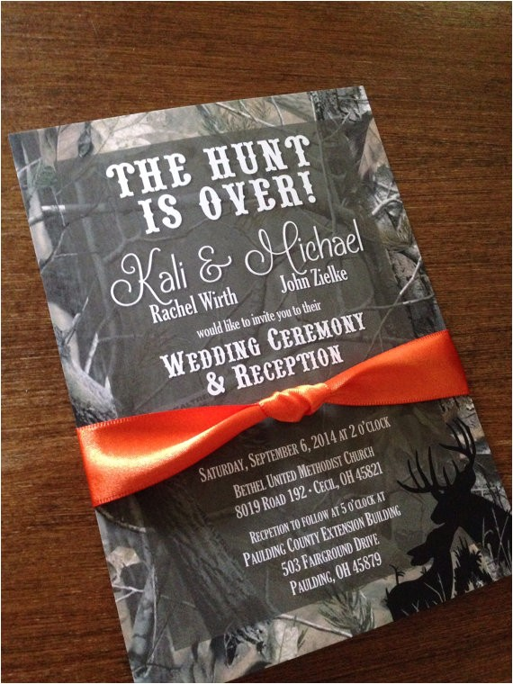 camo wedding invitations ideas