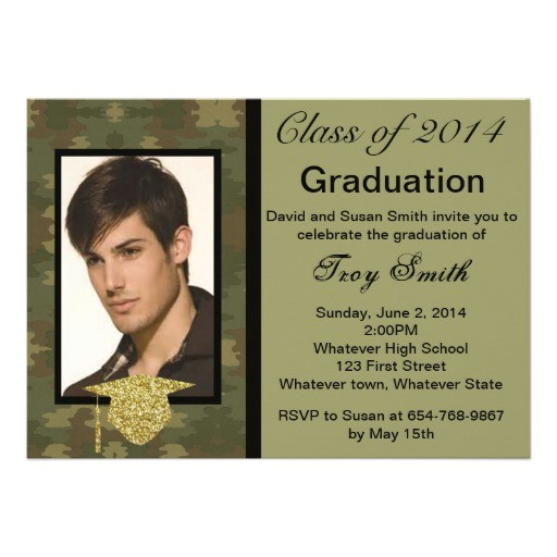 photo camouflage graduation invitation 161842269014982964