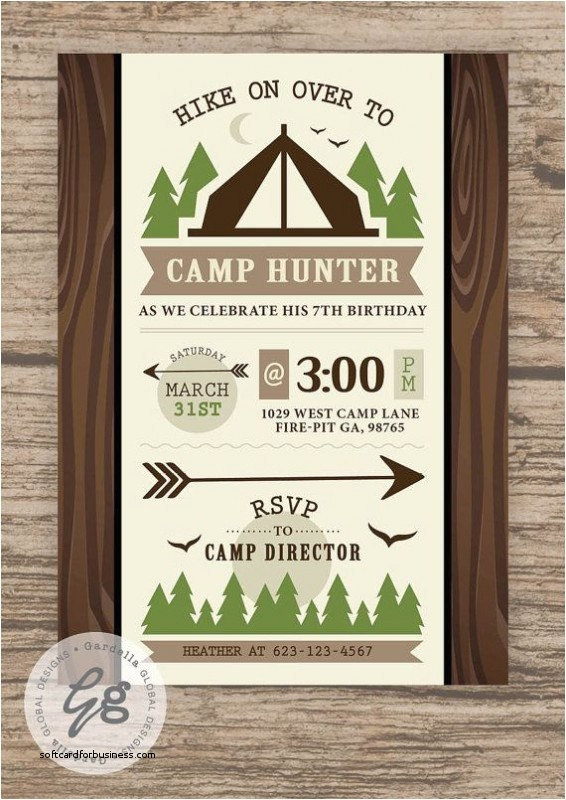 camping themed wedding invitations