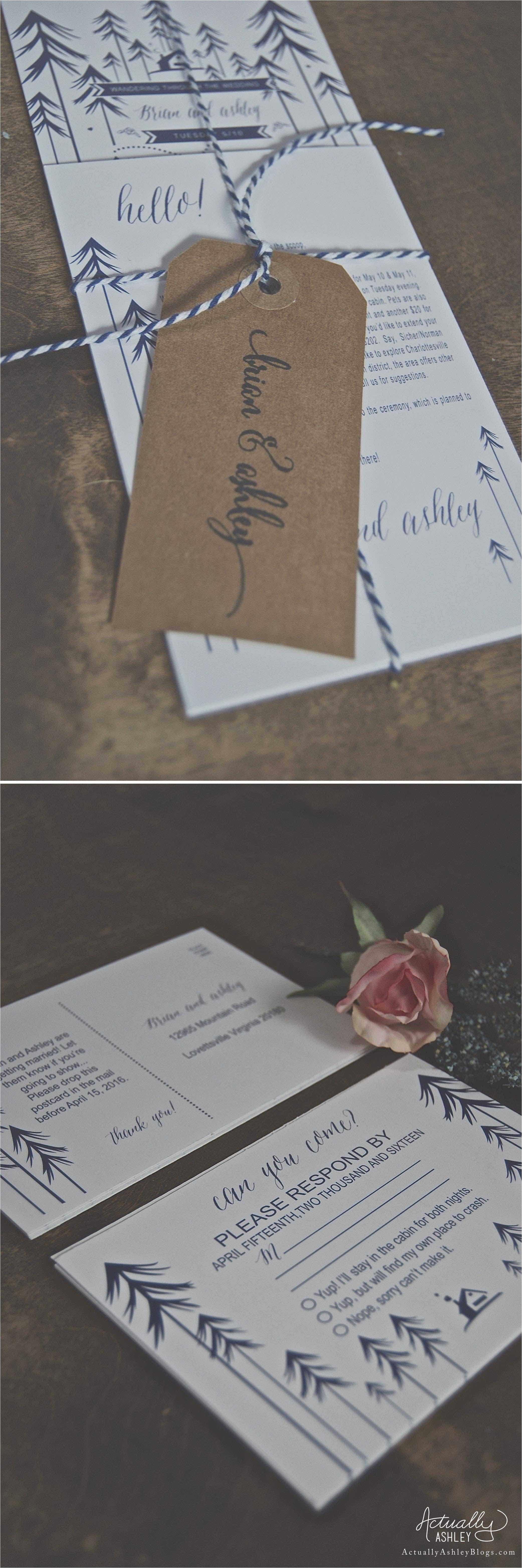 wedding planning camp theme wedding invitations