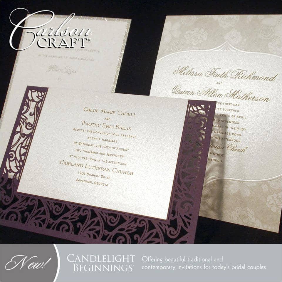 carlson craft wedding invitations designs