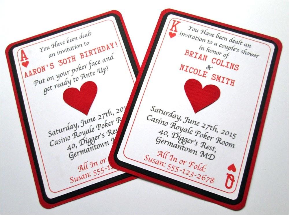 casino invitations casino party casino