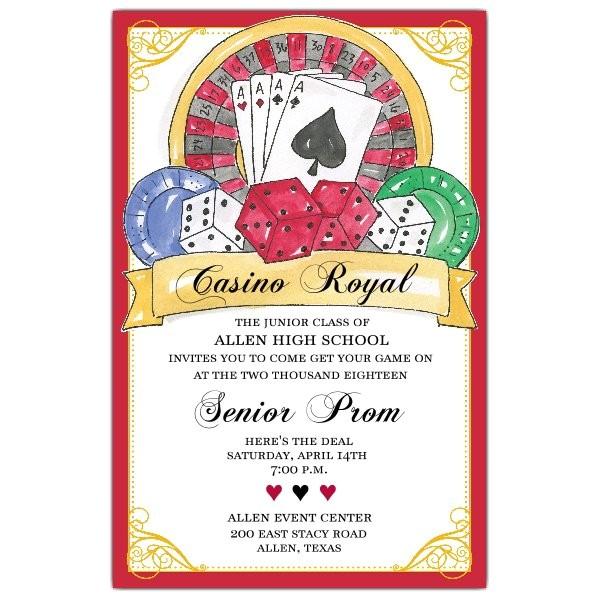 casino prom invitations p 622 58 440ev prom