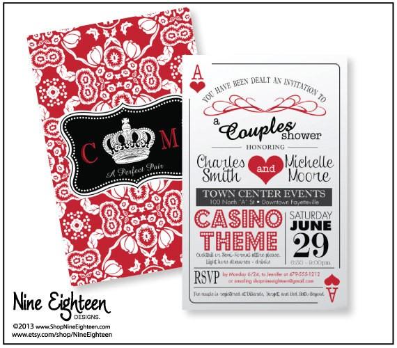casino themed wedding invitations shtml