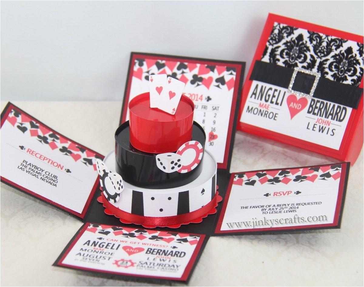 las vegas casino themed exploding box