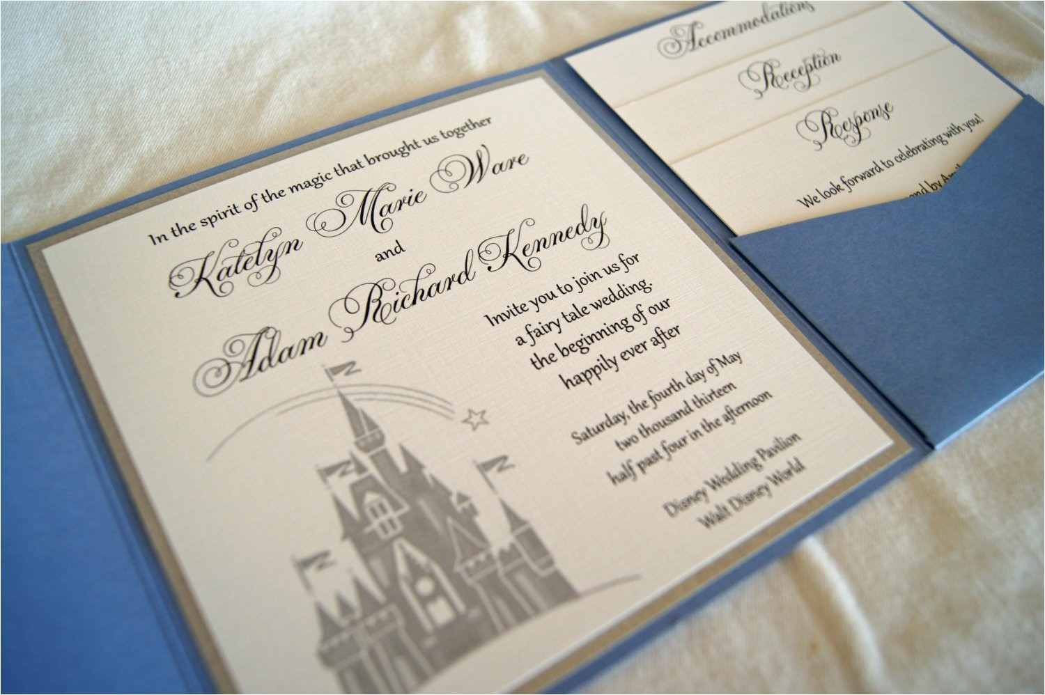fairytale castle pocketfold wedding