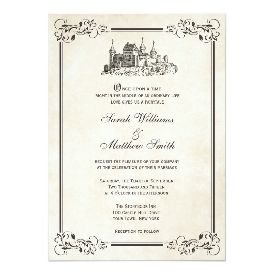 Castle Wedding Invitations Design Fairytale Castle Wedding Invitations Zazzle Com