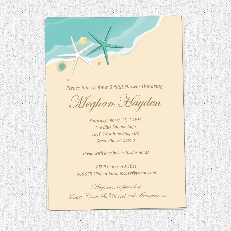 beach wedding invitation wording casual