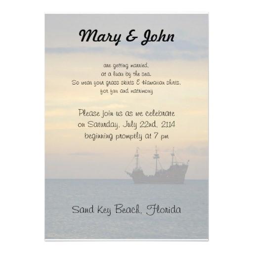 casual beach wedding personalized invites 161054554785495499