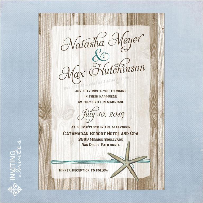 informal beach wedding invitation