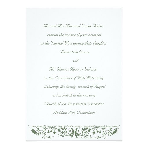 catholic wedding set invitation template cc 161569622255147049