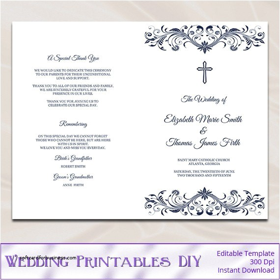 wedding program wording example