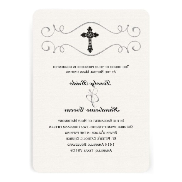 catholic wedding invitation wording sacrament wedding invi