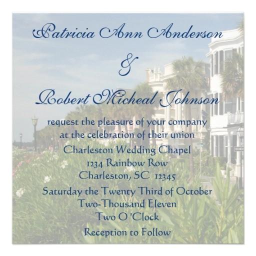 personalized rainbow row charleston sc wedding invitation 161882660949201192
