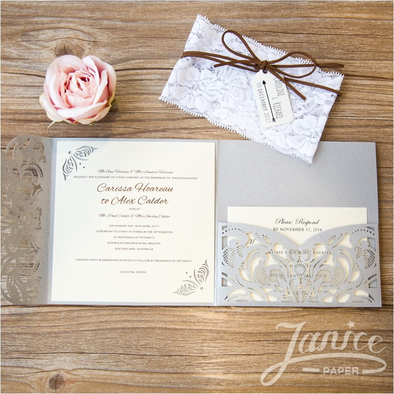 cheap laser cut wedding invitations
