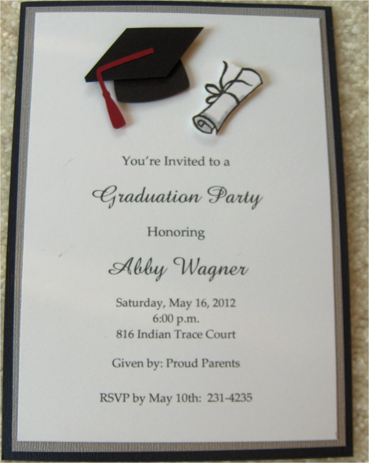 cheap graduation invitations template