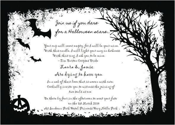 cheap halloween wedding invitations