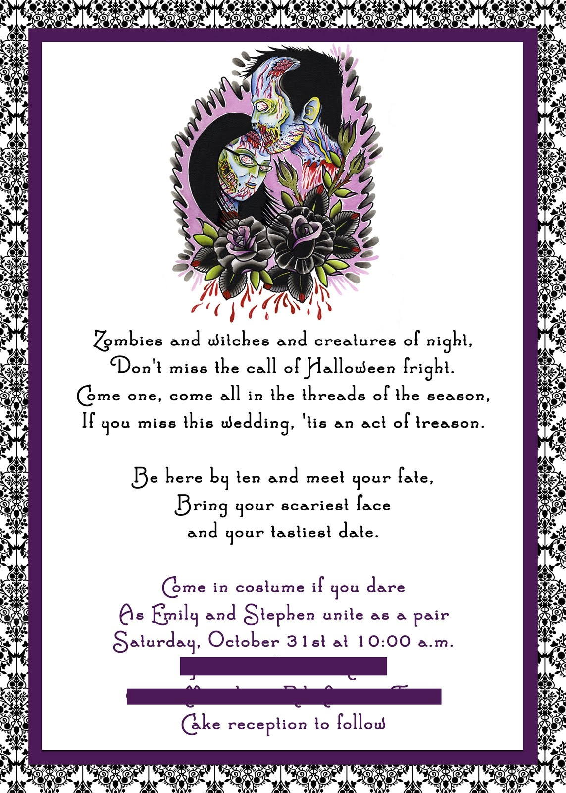 tips for choosing halloween wedding invitations 2