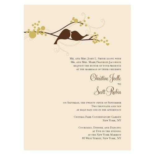 love bird invitation