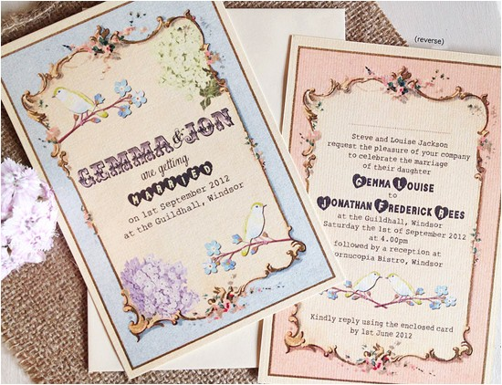 vintage wedding invitations set the tone for a timeless wedding