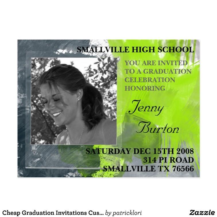 Cheap Personalized Graduation Invitations Cheap Graduation Invitations Custom Postcard Zazzle