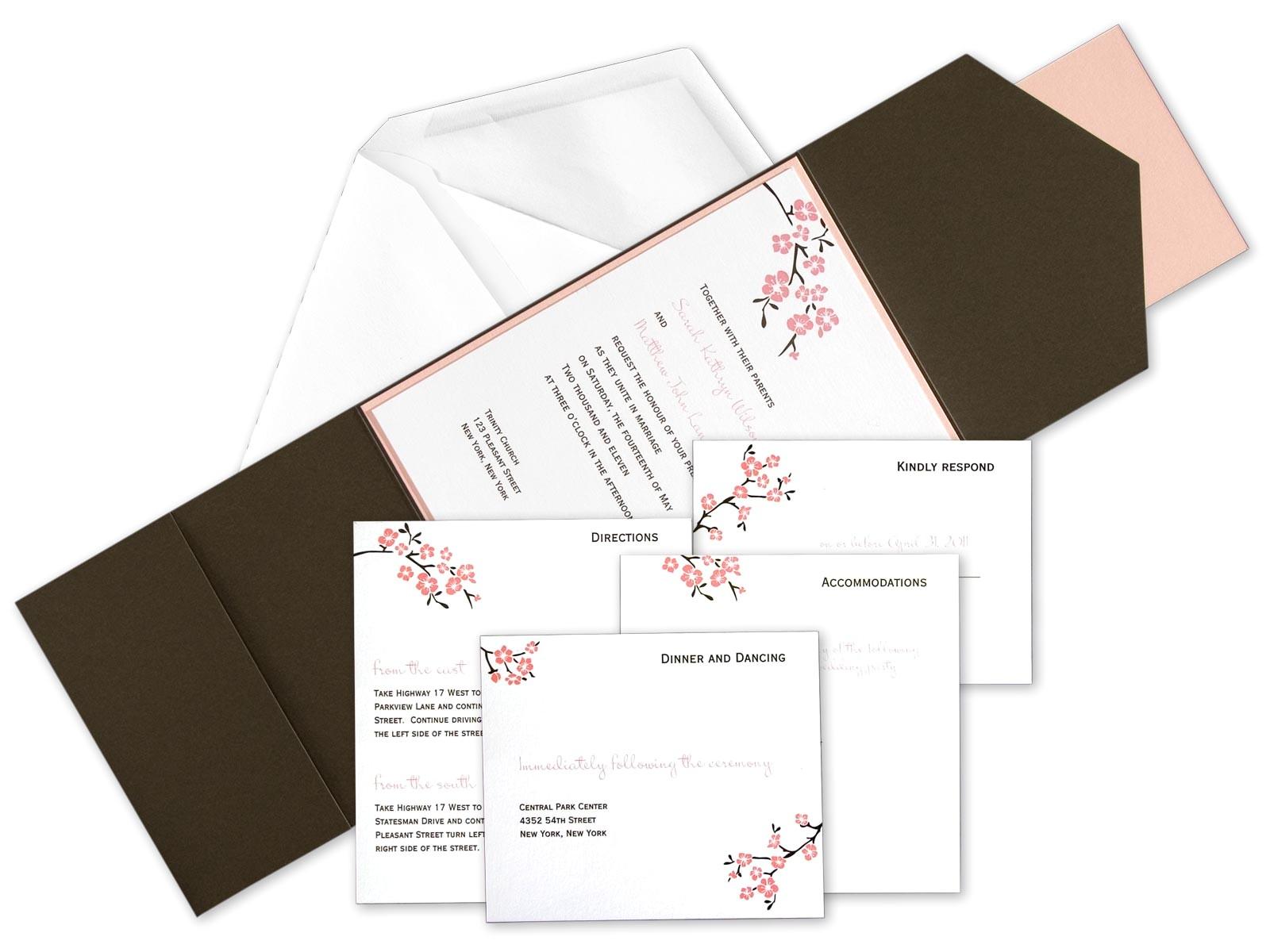 diy pocket wedding invitation kits