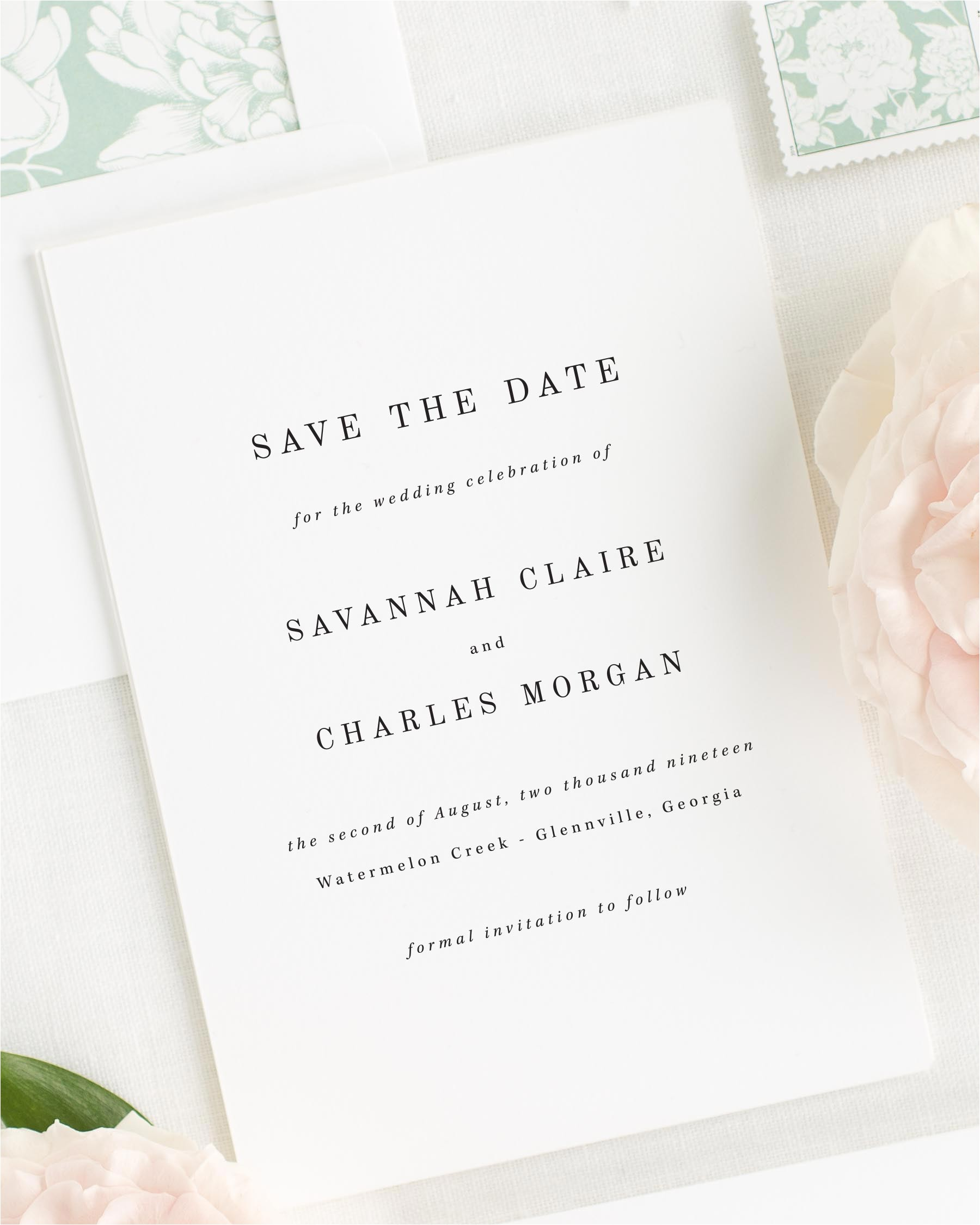 savannah save the date cards