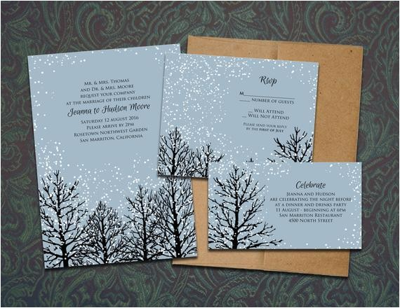 diy winter magic printable wedding