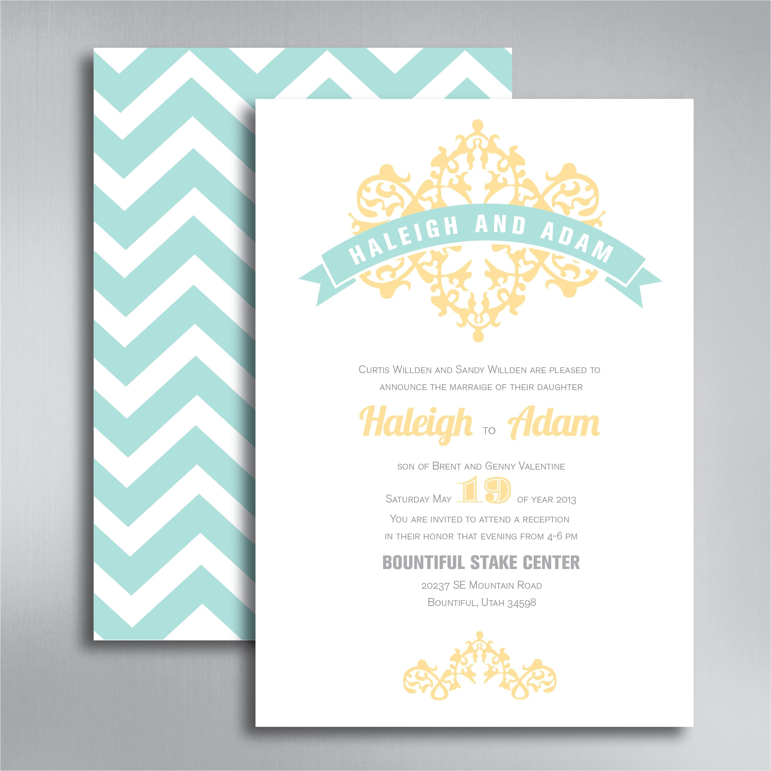 discount price wedding invitations with free response cards modern designing template rsvp blue back front zigzag
