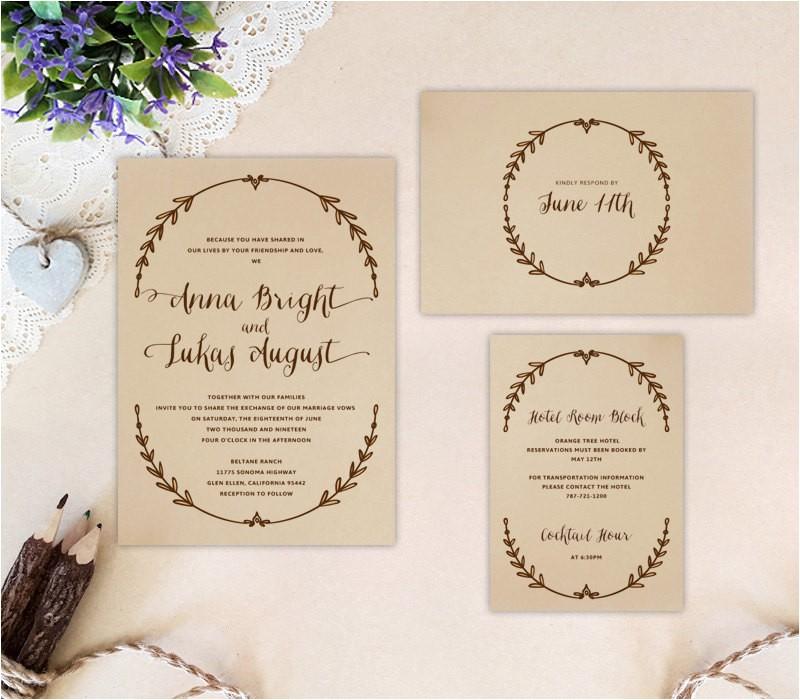 cheap wedding invitation sets printed