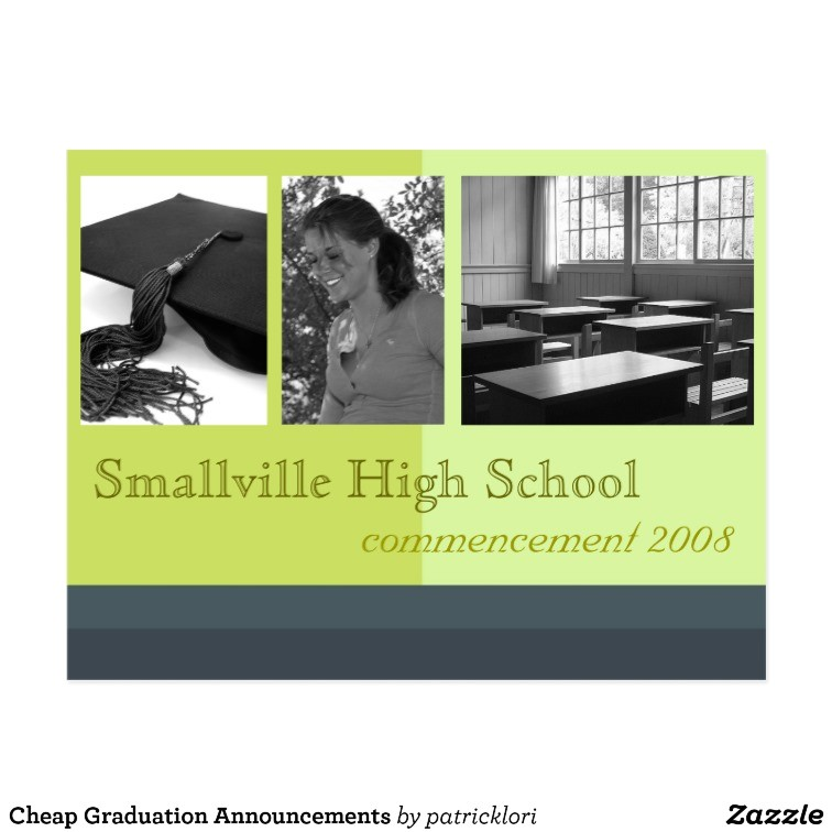 cheap graduation announcements postcard 239595692709492293