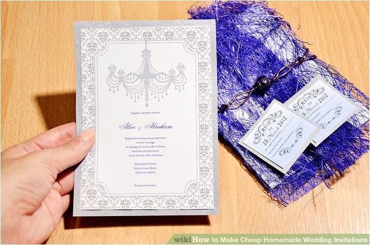 make cheap homemade wedding invitations