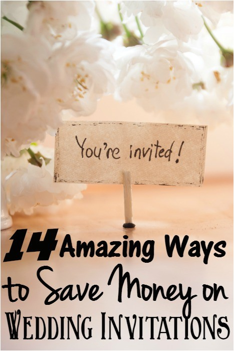 cheap wedding invitations ways to save money on wedding invites