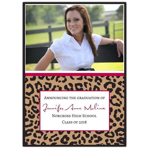 cheetah class of photo graduation announcements p 615 57 249