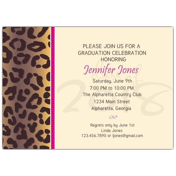 cheetah graduation party invitations p 615 75 037 b