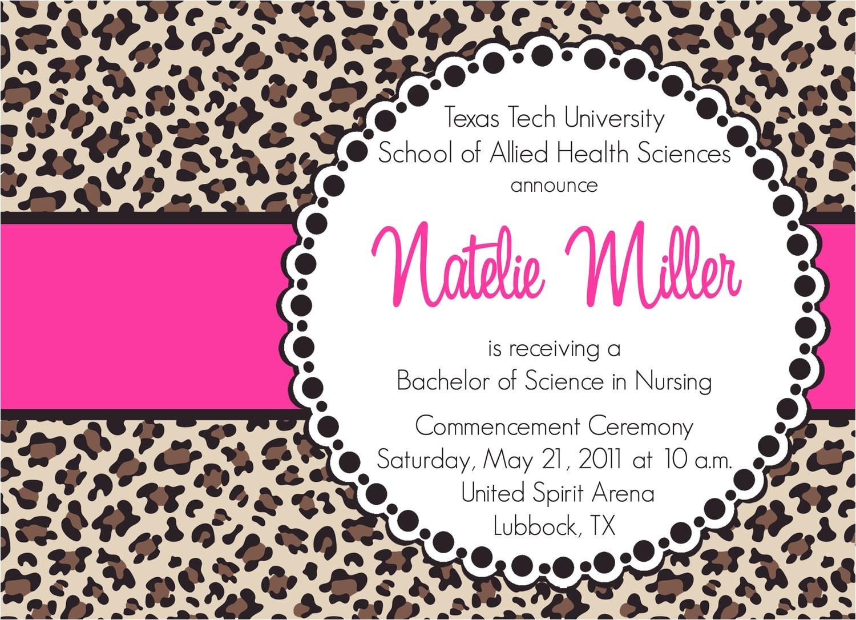natelie custom cheetah print graduation
