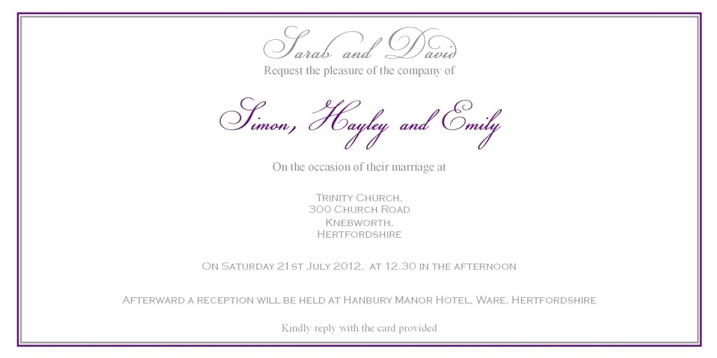 christian wedding invitation wording from bride and groom
