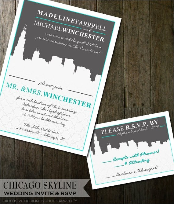 Cityscape Wedding Invitations Destination Wedding Invitation Cityscape Wedding