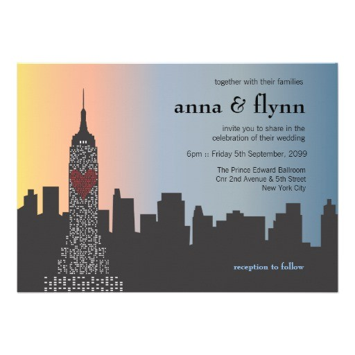 new york city skyline cityscape wedding invitation 161726755511011602