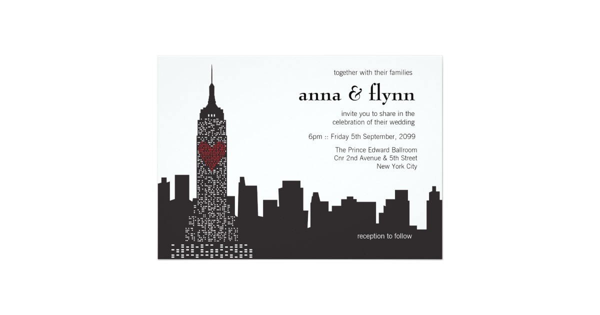 new york city skyline cityscape wedding invitation 256340199268094115