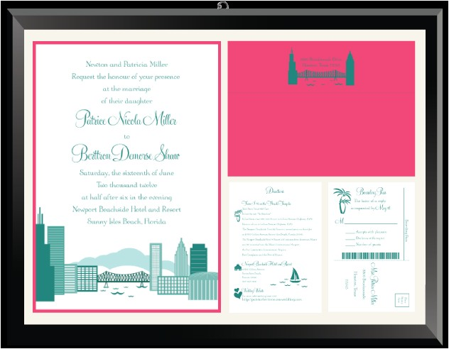 patrice berttron cityscape wedding invitation suite