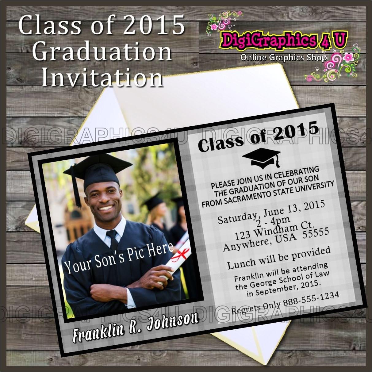 Class Of 2015 Graduation Invitations Class Of 2015 Graduation Party Invitation Printable