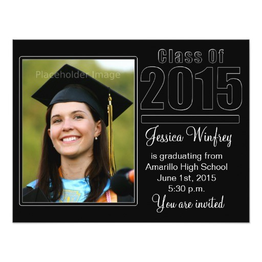 class of 2015 graduation photo invitation 256303910679979383