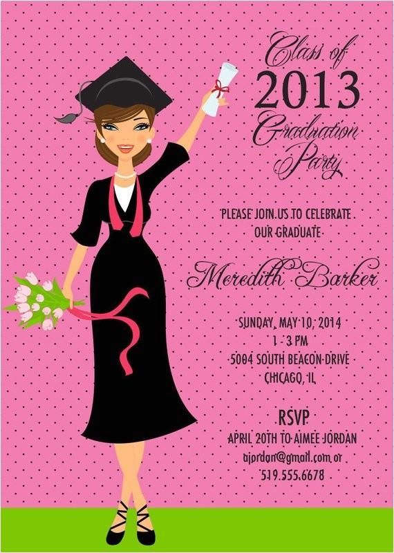classy graduate graduation invitation announce