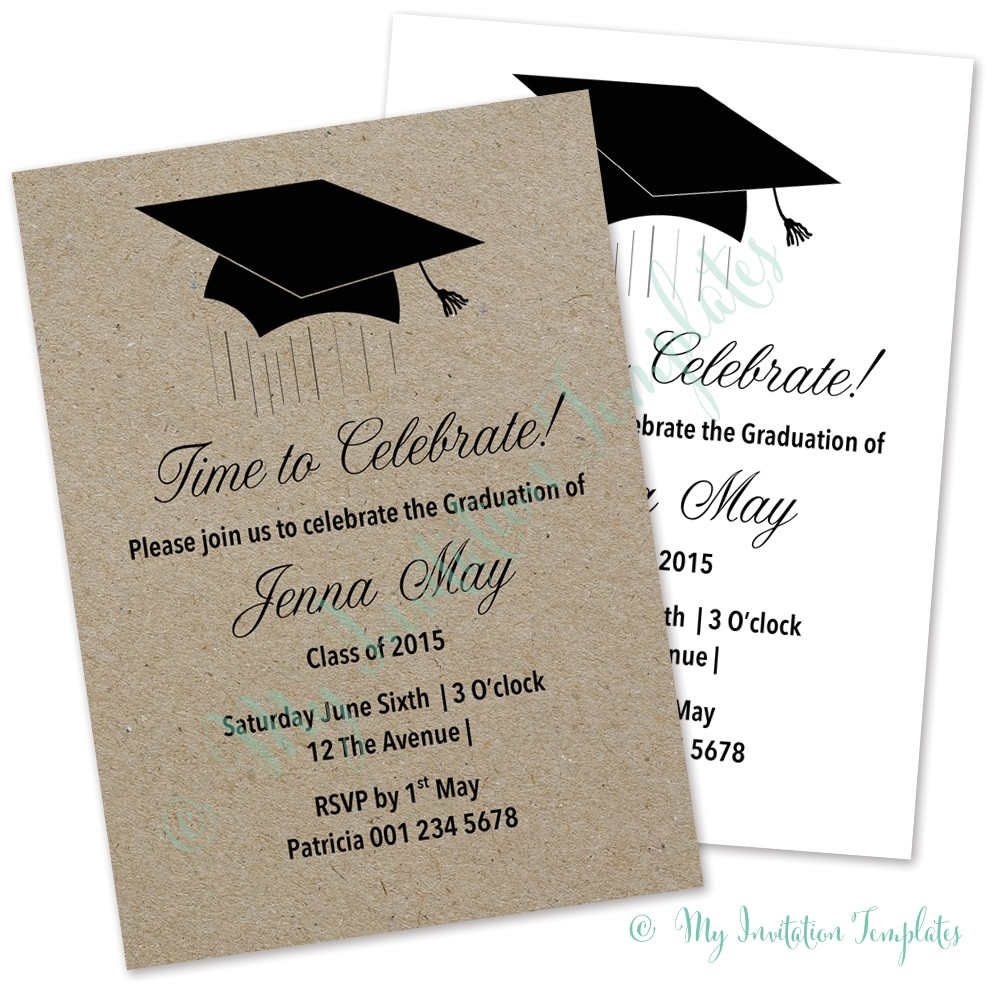 classy graduation invitations